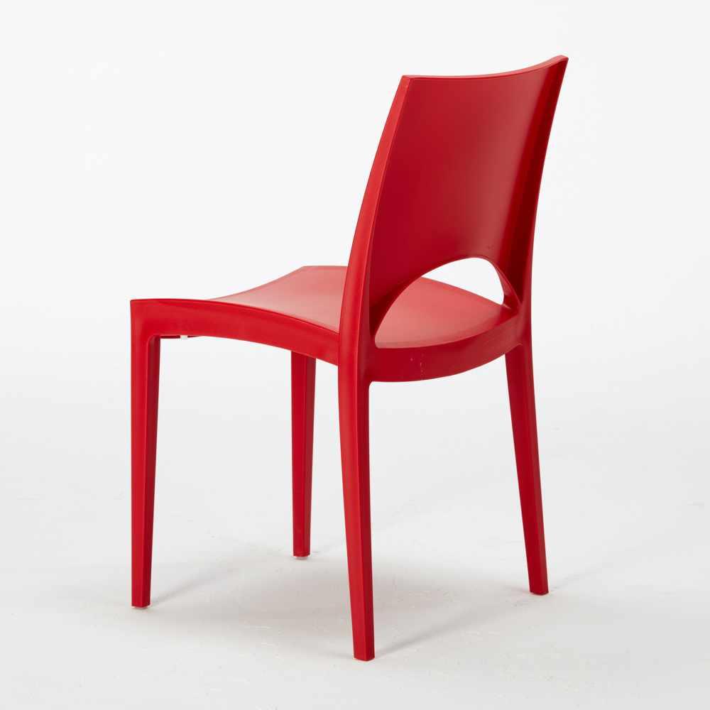 miniature 51 - Chaise en polypropylène empilable salle à manger bar Paris Grand Soleil