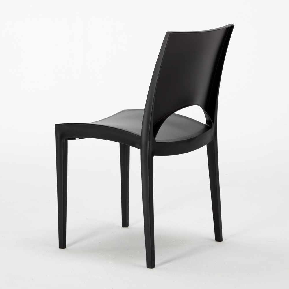 miniature 60 - Chaise en polypropylène empilable salle à manger bar Paris Grand Soleil