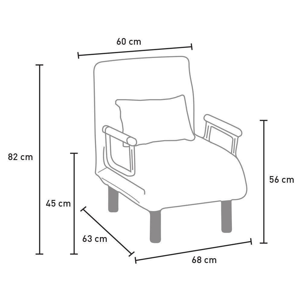 Fauteuil-lit convertible en tissu DEBORAH